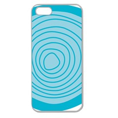 Mustard Logo Hole Circle Linr Blue Apple Seamless Iphone 5 Case (clear) by Alisyart