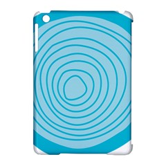 Mustard Logo Hole Circle Linr Blue Apple Ipad Mini Hardshell Case (compatible With Smart Cover)
