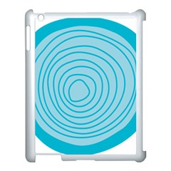 Mustard Logo Hole Circle Linr Blue Apple Ipad 3/4 Case (white)
