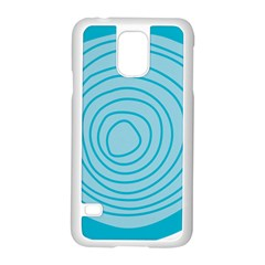 Mustard Logo Hole Circle Linr Blue Samsung Galaxy S5 Case (white)