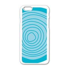 Mustard Logo Hole Circle Linr Blue Apple Iphone 6/6s White Enamel Case by Alisyart