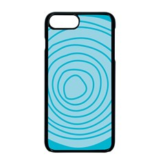 Mustard Logo Hole Circle Linr Blue Apple Iphone 7 Plus Seamless Case (black) by Alisyart