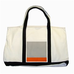 Orange Gray Scallop Wallpaper Wave Two Tone Tote Bag by Alisyart