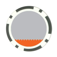 Orange Gray Scallop Wallpaper Wave Poker Chip Card Guard by Alisyart