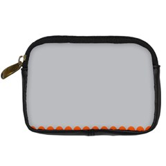 Orange Gray Scallop Wallpaper Wave Digital Camera Cases by Alisyart