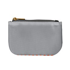 Orange Gray Scallop Wallpaper Wave Mini Coin Purses by Alisyart