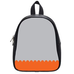 Orange Gray Scallop Wallpaper Wave School Bags (small)  by Alisyart