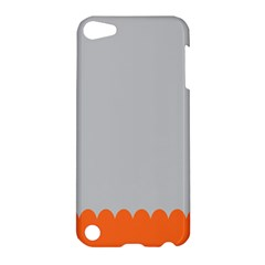 Orange Gray Scallop Wallpaper Wave Apple Ipod Touch 5 Hardshell Case