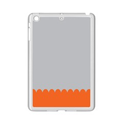 Orange Gray Scallop Wallpaper Wave Ipad Mini 2 Enamel Coated Cases