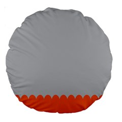Orange Gray Scallop Wallpaper Wave Large 18  Premium Round Cushions by Alisyart