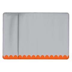 Orange Gray Scallop Wallpaper Wave Samsung Galaxy Tab 10 1  P7500 Flip Case