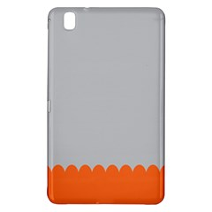 Orange Gray Scallop Wallpaper Wave Samsung Galaxy Tab Pro 8 4 Hardshell Case by Alisyart