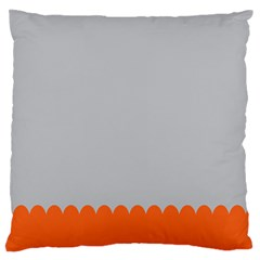 Orange Gray Scallop Wallpaper Wave Large Flano Cushion Case (one Side) by Alisyart