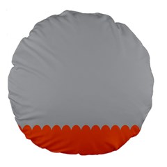 Orange Gray Scallop Wallpaper Wave Large 18  Premium Flano Round Cushions by Alisyart