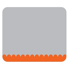 Orange Gray Scallop Wallpaper Wave Double Sided Flano Blanket (small)