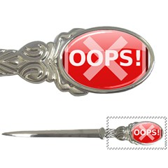 Oops Stop Sign Icon Letter Openers