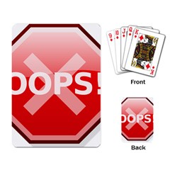 Oops Stop Sign Icon Playing Card by Alisyart