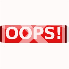 Oops Stop Sign Icon Large Bar Mats by Alisyart
