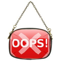 Oops Stop Sign Icon Chain Purses (one Side)
