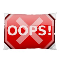 Oops Stop Sign Icon Pillow Case by Alisyart