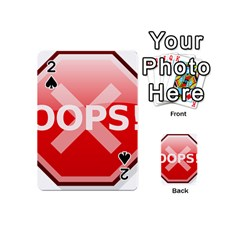 Oops Stop Sign Icon Playing Cards 54 (mini)  by Alisyart