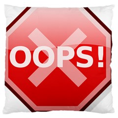 Oops Stop Sign Icon Large Cushion Case (two Sides)