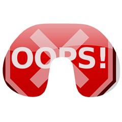 Oops Stop Sign Icon Travel Neck Pillows