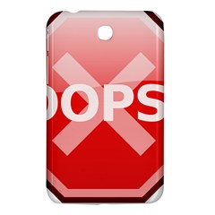 Oops Stop Sign Icon Samsung Galaxy Tab 3 (7 ) P3200 Hardshell Case  by Alisyart