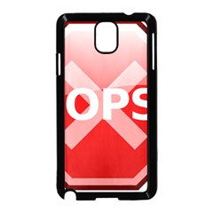 Oops Stop Sign Icon Samsung Galaxy Note 3 Neo Hardshell Case (black)