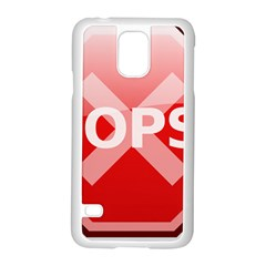 Oops Stop Sign Icon Samsung Galaxy S5 Case (white)