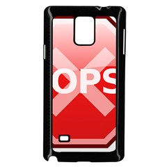 Oops Stop Sign Icon Samsung Galaxy Note 4 Case (black)