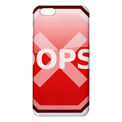Oops Stop Sign Icon Iphone 6 Plus/6s Plus Tpu Case by Alisyart