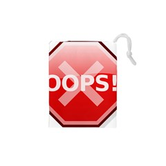 Oops Stop Sign Icon Drawstring Pouches (xs)