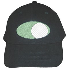 Golf Image Ball Hole Black Green Black Cap