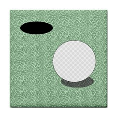 Golf Image Ball Hole Black Green Tile Coasters by Alisyart