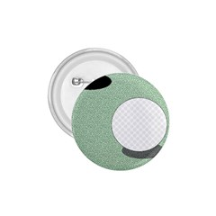 Golf Image Ball Hole Black Green 1 75  Buttons