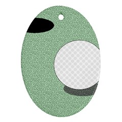 Golf Image Ball Hole Black Green Ornament (oval) by Alisyart