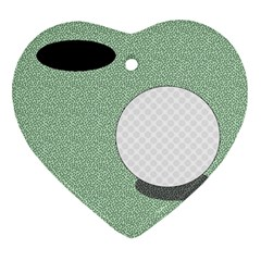 Golf Image Ball Hole Black Green Ornament (heart) by Alisyart