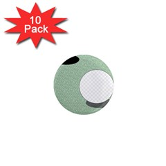 Golf Image Ball Hole Black Green 1  Mini Magnet (10 Pack)  by Alisyart
