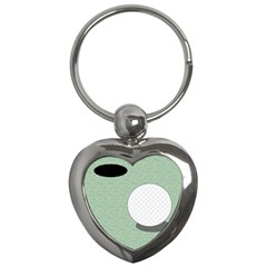 Golf Image Ball Hole Black Green Key Chains (heart)  by Alisyart