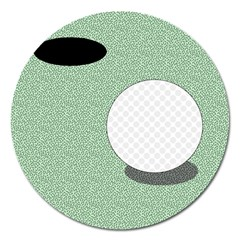 Golf Image Ball Hole Black Green Magnet 5  (round) by Alisyart