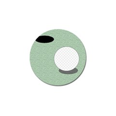 Golf Image Ball Hole Black Green Golf Ball Marker by Alisyart