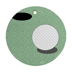 Golf Image Ball Hole Black Green Round Ornament (two Sides) by Alisyart