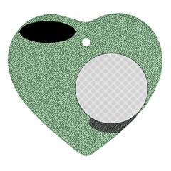 Golf Image Ball Hole Black Green Heart Ornament (two Sides) by Alisyart