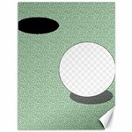 Golf Image Ball Hole Black Green Canvas 36  x 48   48 x36  Canvas - 1