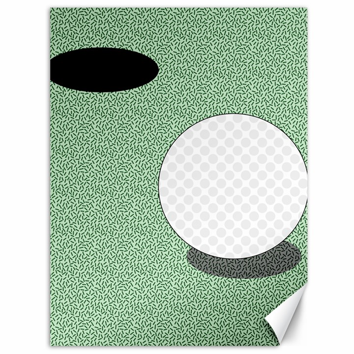 Golf Image Ball Hole Black Green Canvas 36  x 48