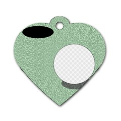 Golf Image Ball Hole Black Green Dog Tag Heart (two Sides) by Alisyart
