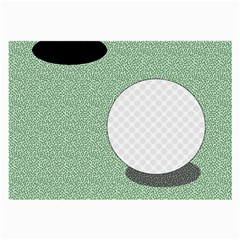 Golf Image Ball Hole Black Green Large Glasses Cloth (2 Side) by Alisyart