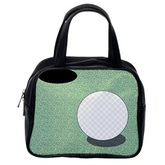 Golf Image Ball Hole Black Green Classic Handbags (one Side)