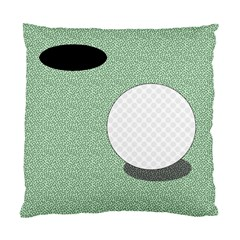 Golf Image Ball Hole Black Green Standard Cushion Case (one Side)